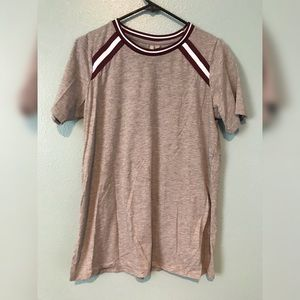 ASOS T-Shirt with Stripe Inserts in Longline Fit
